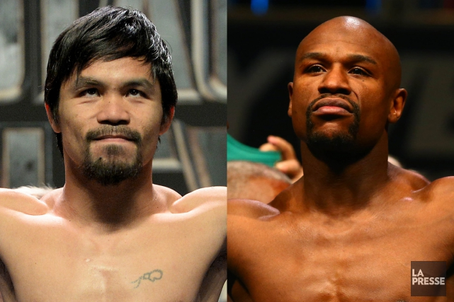 Manny Pacquiao et Floyd Mayweather... (PHOTOMONTAGE LA PRESSE)