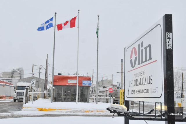 Près d'une cinquantaine de travailleurs de l'usine Olin... (Photo: Émilie O'Connor, Le Nouvelliste)