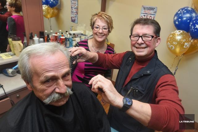 Le propriétaire du Salon Murray, André St-Pierre, a... (Imacom, Maxime Picard)
