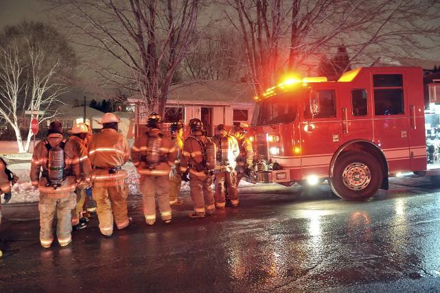 Un début d'incendie a pris naissance dans la... ((Photo Rocket Lavoie))