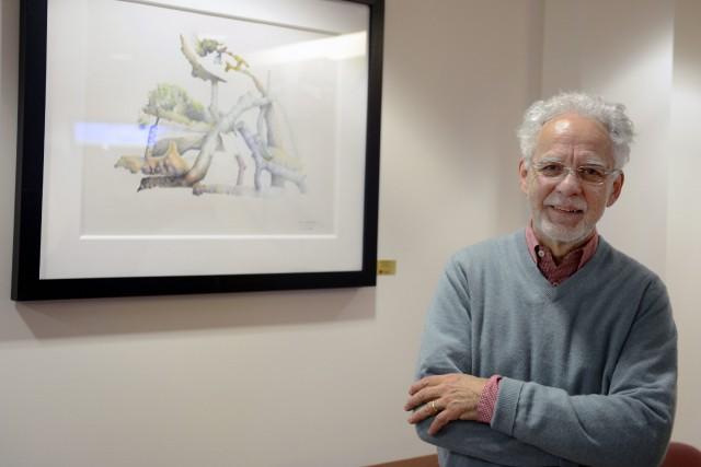 L'artiste Denis Langlois fait partie des cinq peintres... ((Photo Jeannot Lévesque))