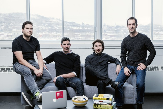 Frédéric Thouin, Raff Paquin, LP Maurice et Bruno... (Photo Fournie Par Interaction Ventures)