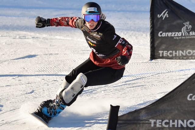 Des quatre Canadiennes inscrites àl'épreuve de slalom parallèle... (Photo Andreas Solaro, archives AFP)