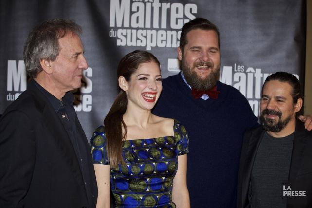 Michel Côté, Anna Hopkins, Antoine Bertrand et Robin... (Photo: André Pichette, La Presse)