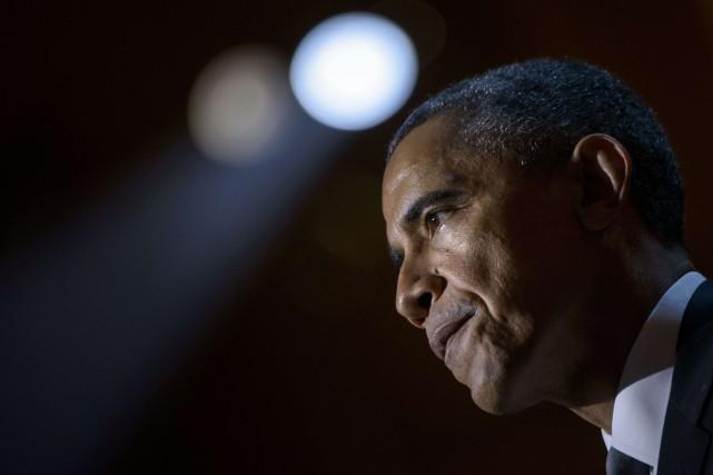 Le président américain, Barack Obama... (PHOTO BRENDAN SMIALOWSKI, AFP)