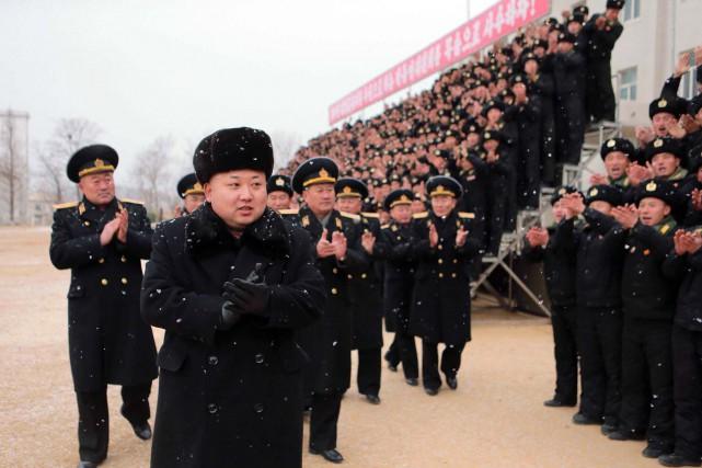 Le dictateur nord-coréen Kim Jong-un... (Photo AFP/KCNA)