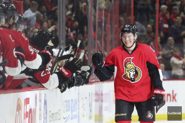 Curtis Lazar a marqué son premier but dans... (Photo Patrick Woodbury, archives Le Droit)