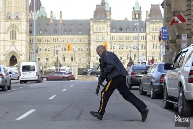 La fusillade au Parlement a été le deuxième... (Archives, La Presse Canadienne)