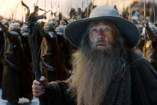 Ian McKellen dans une scène de The Hobbit:... (PHOTO FOURNIE PAR WARNER)