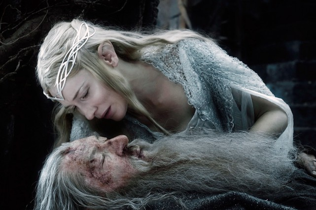 Cate Blanchett et Ian McKellen dans The Hobbit: The... (PHOTO FOURNIE PAR WARNER)