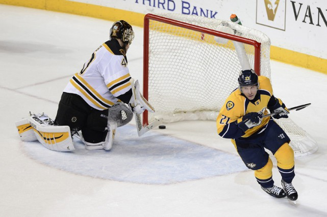Derek Roy a inscrit le seul but de la fusillade et les Predators de Nashville... (Photo: AP)
