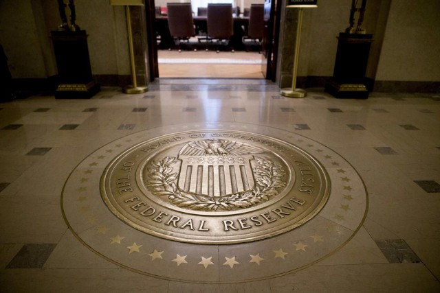 La banque centrale divulguera mercredi de nouvelles prévisions... (Photo Andrew Harrer, archives Bloomberg)
