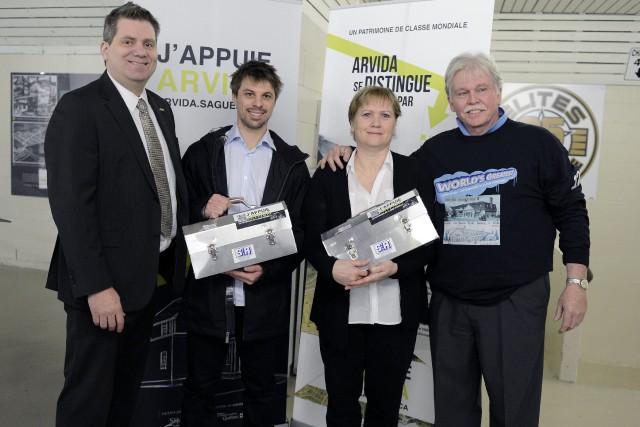 François Boivin et Hélène Boivin ont été accueillis... ((Photo Jeannot Lévesque))