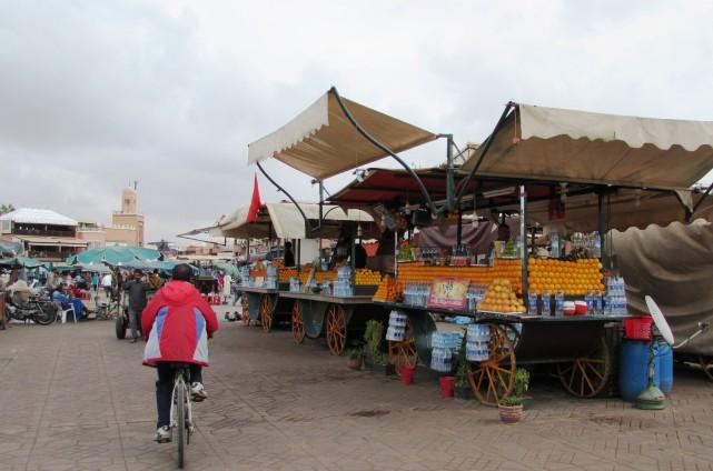La place Djemaa el-Fna est généralement animée du... (La Nouvelle, Jonathan Custeau)