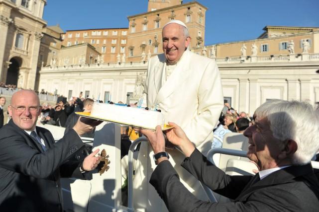 Le pape François a célébré son 78e anniversaire... (Photo: AP)