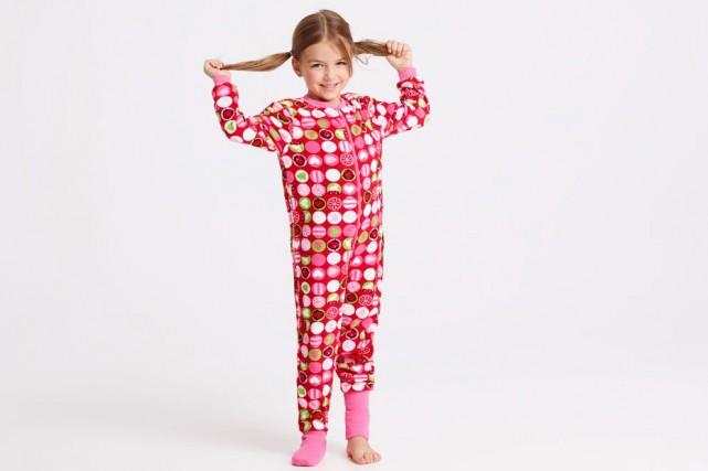 Pyjama une-pièce pour fillette, 17 $ chez L'Aubainerie.... (Photo fournie par L'Aubainerie)