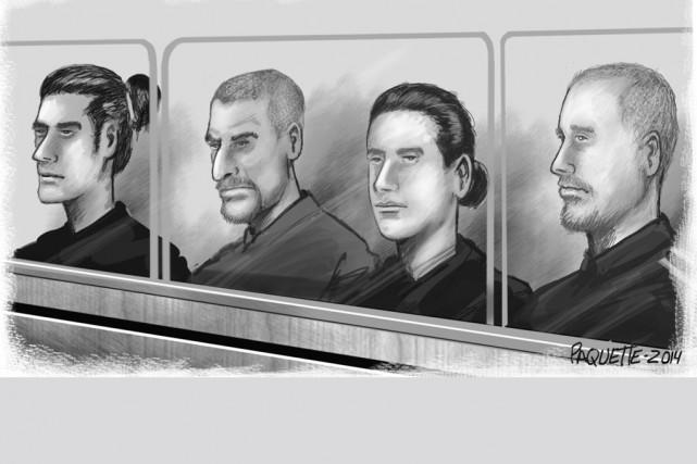 Antoine Léger, Brendan d'Anjou O'Meally, Mathieu Bélanger et... (illustration Serge Paquette)