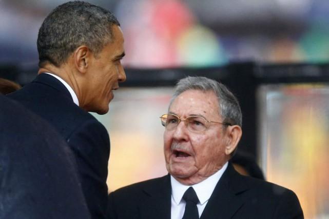Le président Obama (à gauche) et son homologue... (PHOTO KAI PFAFFENBACH, ARCHIVES REUTERS)