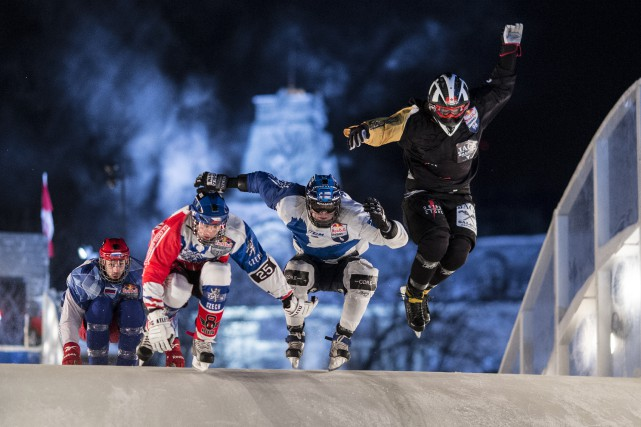 Le Red Bull Crashed Ice... (Photo fournie par ICI Explora)
