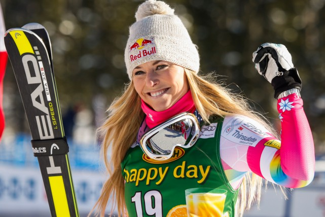 Lindsey Vonn... (Photo Jeff McIntosh, PC)