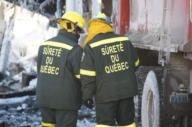 La destruction considérable des lieux a empêché les... (Photo fournie par la Sûreté du Québec)