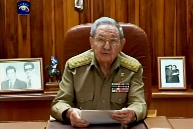 Raul Castro à La Havane, le 17 décembre.... (IMAGE AFP/TÉLÉVISION CUBAINE)