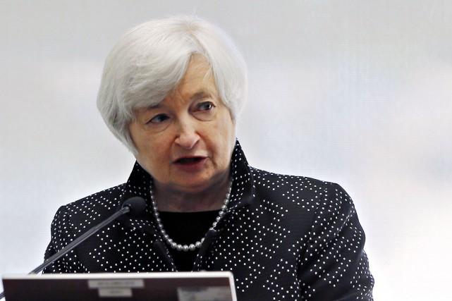 La présidente de la Réserve fédérale (Fed), Janet... (Photo BRIAN SNYDER, Archives Reuters)