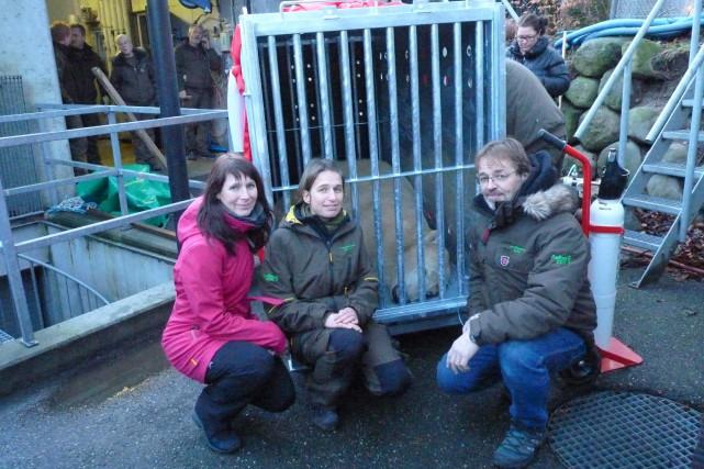 Josée Tremblay, vétérinaire du Zoo sauvage, Trine Hammer... ((Courtoisie))