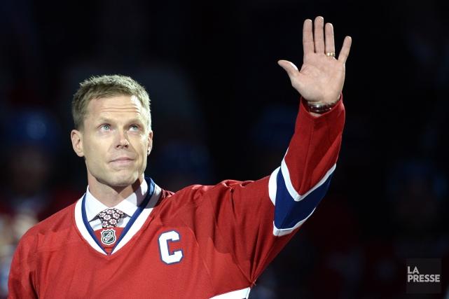 2009 - Le Finlandais Saku Koivu quitte le Canadien de Montréal, ayant conclu... (Photo Bernard Brault, La Presse)