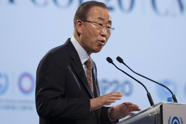 Le secrétaire général de l'ONU, Ban Ki-moon.... (Photo ENRIQUE CASTRO-MENDIVIL, Reuters)