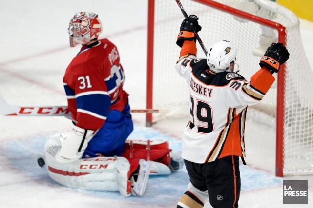 Matt Beleskey a marqué le but vainqueur en... (Photo Bernard Brault, La Presse)
