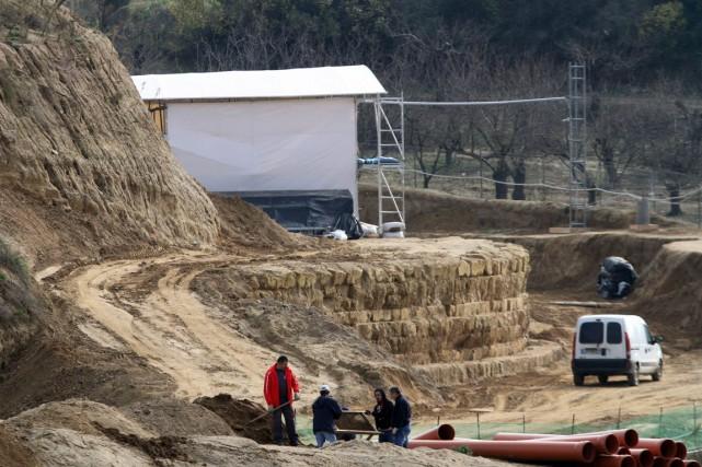 La découverte d'un squelette en novembre, dans ce... (Photo Grigoris Siamidis, AP)