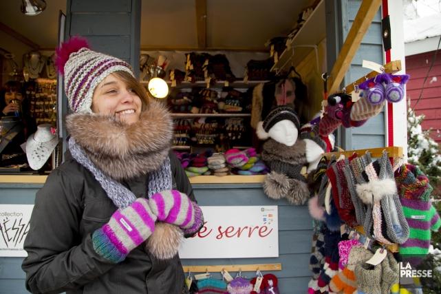 Le marché de Noël de L'Assomption longe la... (PHOTO ALAIN ROBERGE, LA PRESSE)
