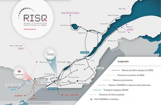Aujourd'hui, le RISQ est propriétaire d'un réseau à...