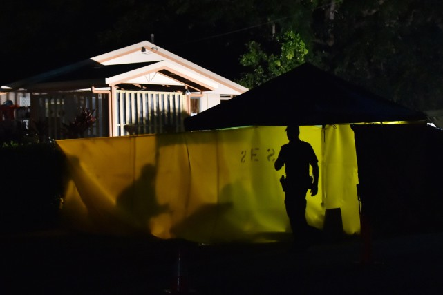 La mère de sept des huit enfants retrouvés morts dans une propriété de la ville... (Photo AFP)
