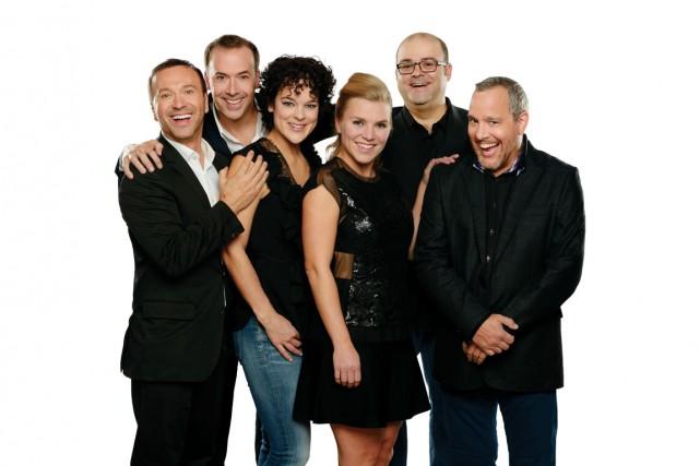 Joël Legendre, Pierre Brassard, Hélène Bourgeois-Leclerc, Véronique Claveau,... (Photo ICI Radio-Canada télé, Jean Bernier)