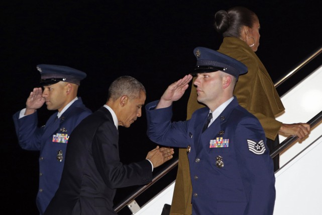 La famille présidentielle passera les deux prochaines semaines... (Photo Gary Cameron, Reuters)