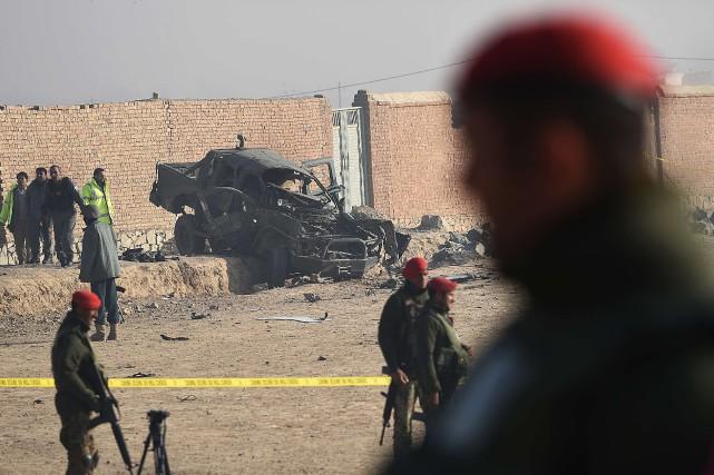 Le conflit afghan est sur le point de dépasser les 10 000 victimes civiles en... (PHOTO SHAH MARAI, AFP)