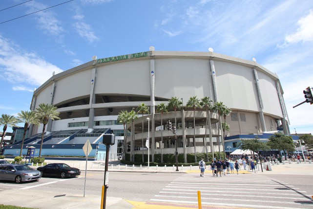 Le Tropicana Field, domicile des Rays de Tampa... (Photo archives AP)