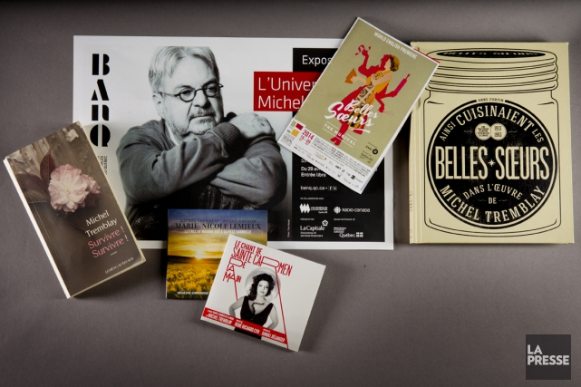 Des oeuvres de Michel Tremblay.... (PHOTO MARCO CAMPANOZZI, LA PRESSE)