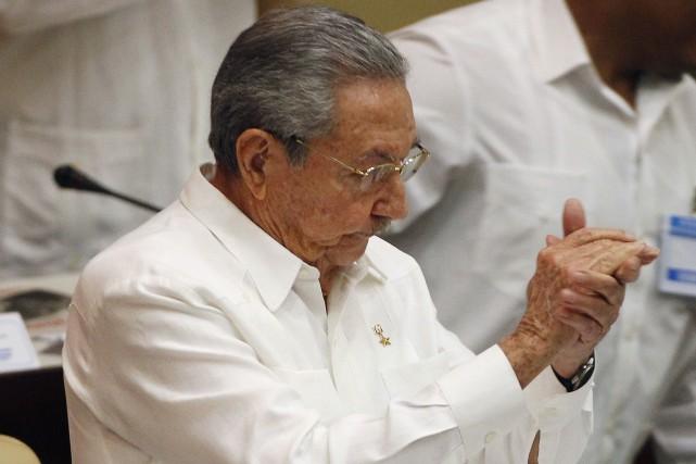 Le président cubain Raul Castro... (Photo Enrique de La Osa, Reuters)