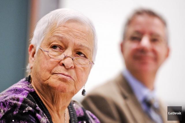 La mairesse de Plaisance, Paulette Lalande, se fait... (MARTIN ROY, Archives LeDroit)