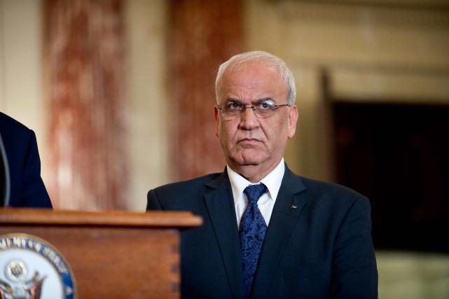 Le principal négociateur palestinien, Saëb Erakat... (Photo archives AFP)