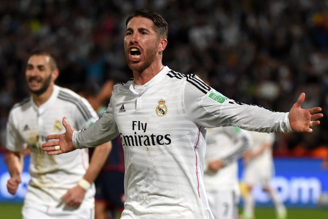 Sergio Ramos a compté le premier but du... (PHOTO FADEL SENNA, archives AFP)