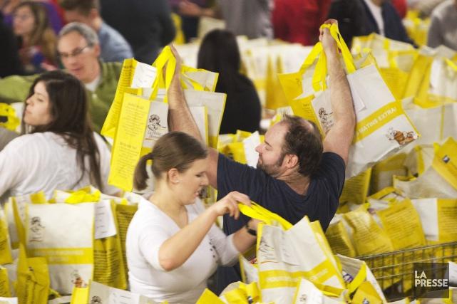 72000 kilogrammes de denrées de toutes sortes ont... (Photo Robert Skinner, La Presse)