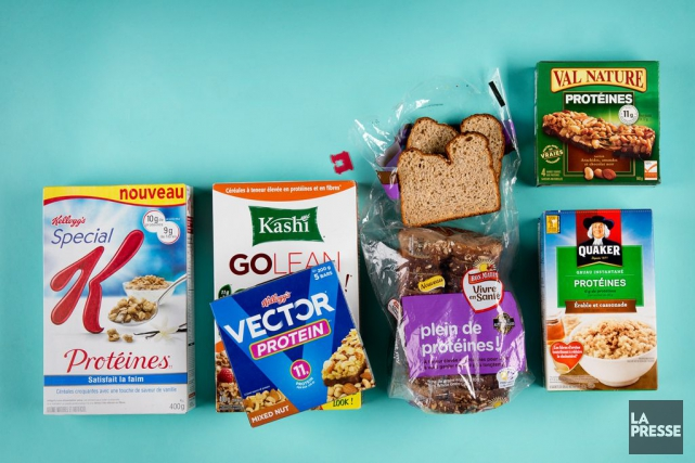 Tour d'horizon des aliments enrichis en protéines, les bons, les moins bons, et... (Photomontage La Presse)