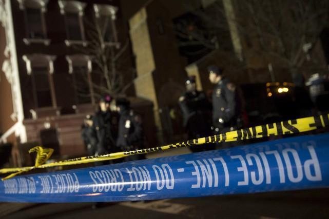 L'attaque a eu lieu à Brooklyn, dans le... (Associated Press)
