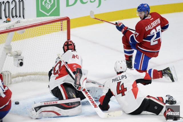 Les Sénateurs d'Ottawa se sont inclinés, 4-1, lors... (Photo Bernard Brault, La Presse)