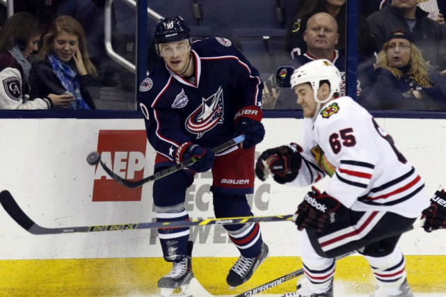 Les Blue Jackets de Columbus signent une victoire... (Photo Paul Vernon, AP)