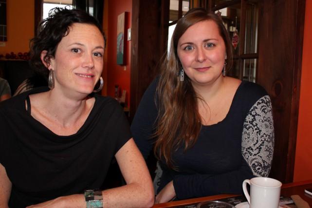 Marilou Levasseur et Roxanne Langlois, toutes deux Gaspésiennes... (Collaboration spéciale Gilles Gagné)